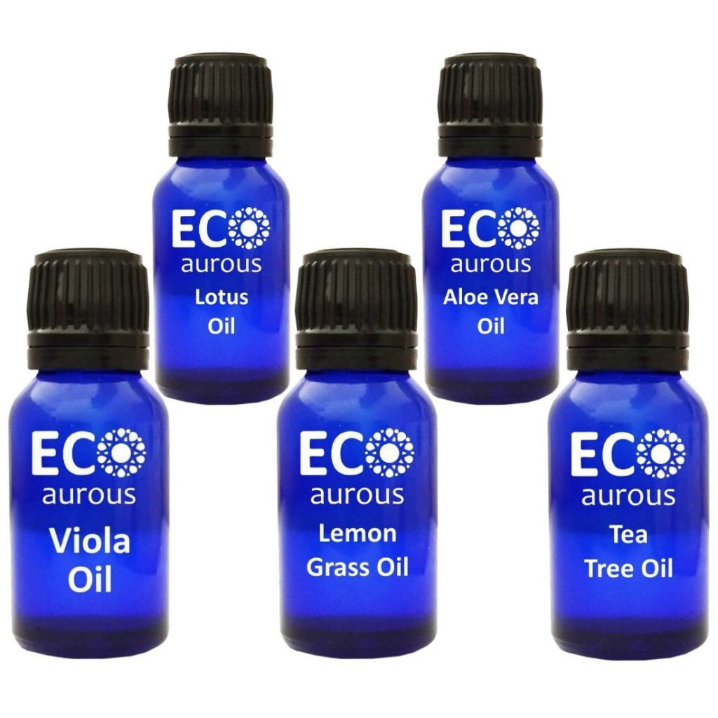 Buy Essential Oils Set For Clear Skin, Face and Massage Online By Eco Aurous - Eco Aurous