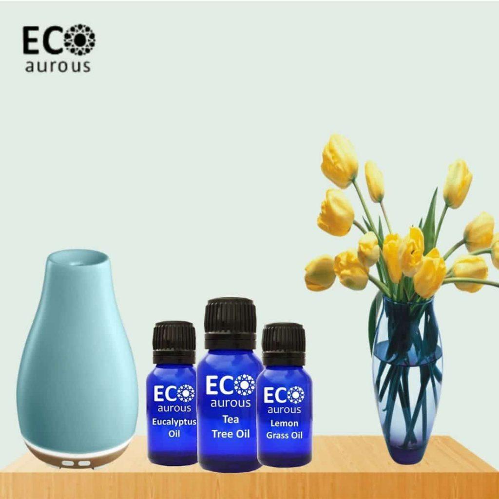 Buy Organic Aromatherapy Essential Oils Set Kit ( 12X10ml(0.33 oz) Pure & Natural Online - Eco Aurous