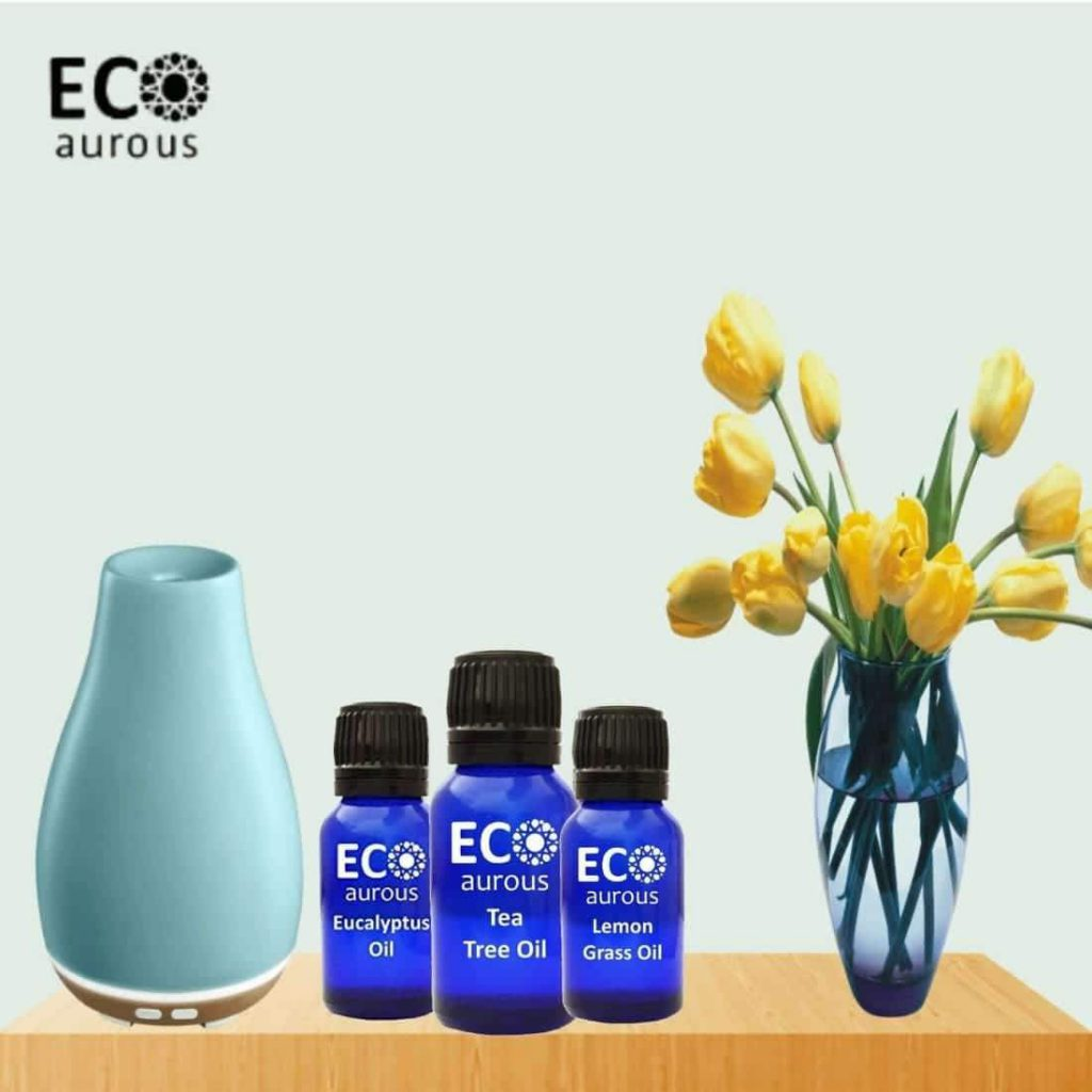Buy Floral Essential Oil Set for Diffuser, Humidifier & Massage Online By Eco Aurous - Eco Aurous