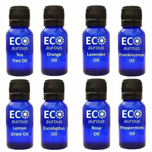 Buy Organic Aromatherapy Essential Oils Set( 8X10ml(0.33 oz) Pure & Natural Online - Eco Aurous