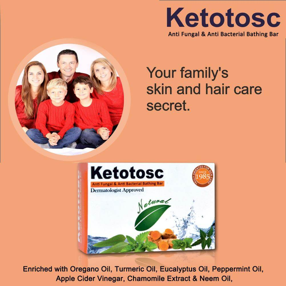 Buy Ketotosc Antifungal And Antibacterial Soap for Skin, Face Online - Eco Aurous