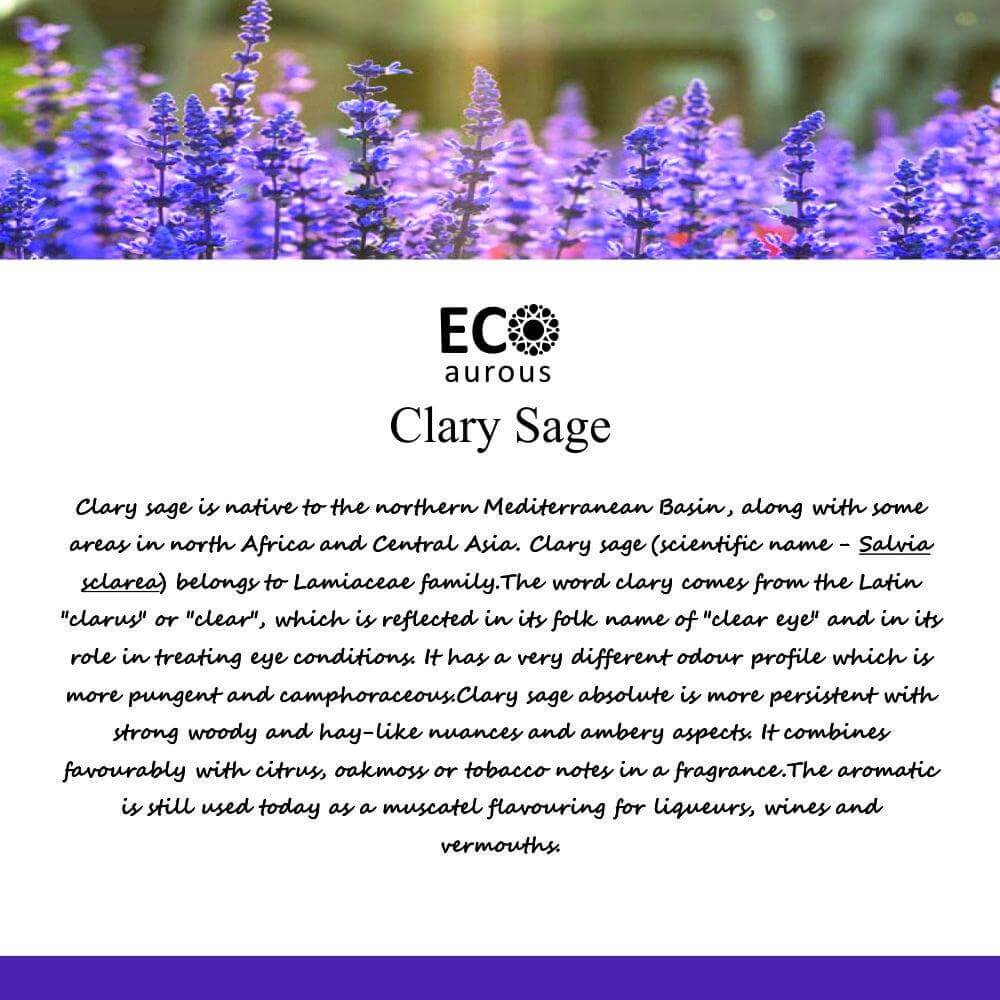 Buy Organic Clary Sage Essential Oil 100% Natural For Hair & Skin Online - Eco Aurous