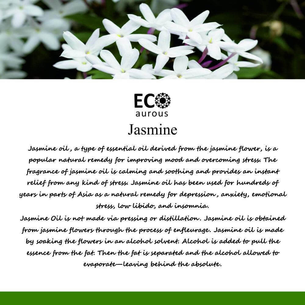 Buy Jasmine Essential Oil 100% Natural & Organic For Skin and Hair Online - Eco Aurous