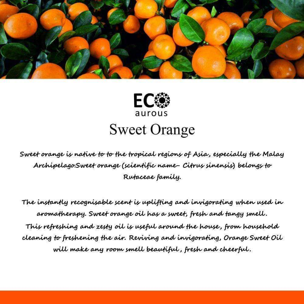 Buy Sweet Orange Essential Oil 100% Natural & Organic Face, Skin Online - Eco Aurous