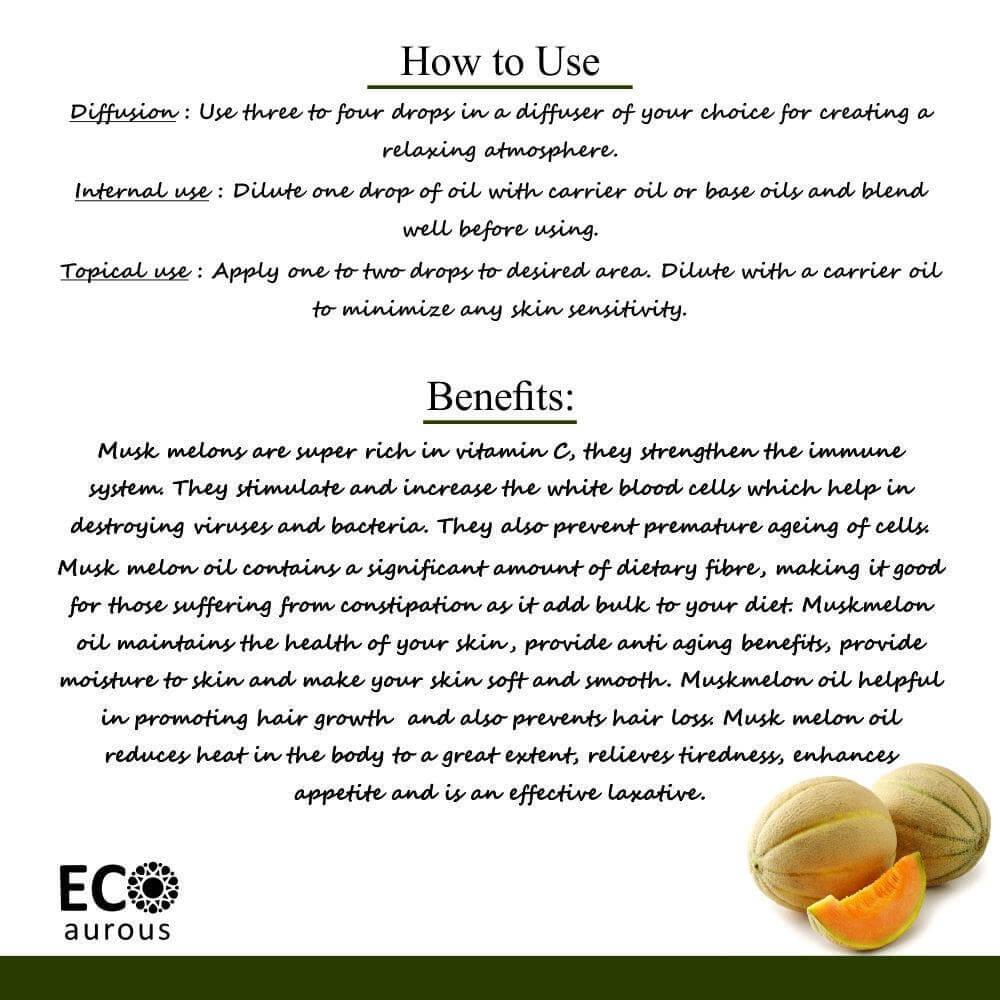 Buy Organic Cucumis Melo Oil 100% Natural Musk Melon Essential Oil Online - Eco Aurous