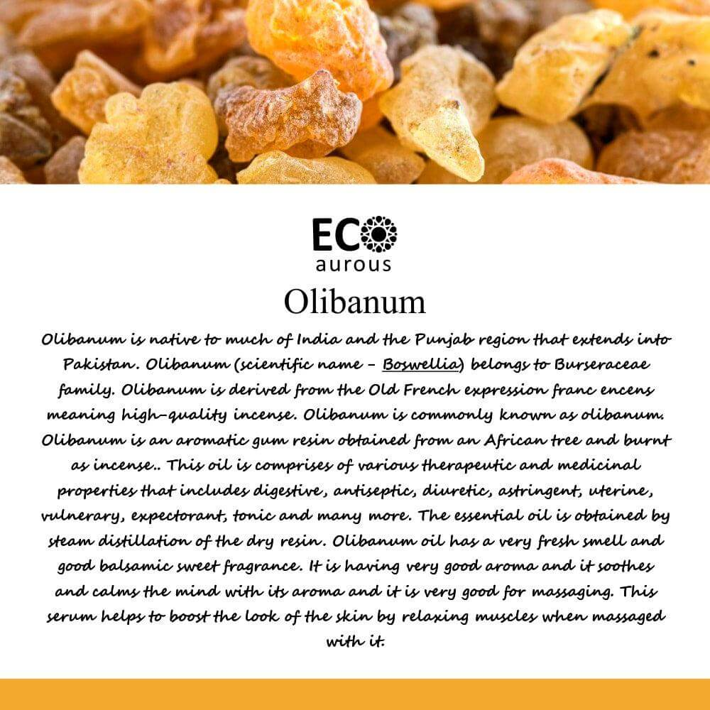 Buy Organic Olibanum Essential Oil 100% Natural for Hair, Skin Online - Eco Aurous