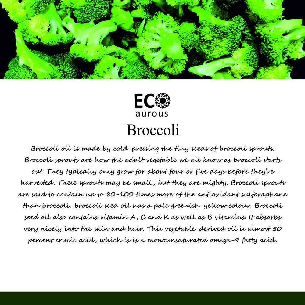 Buy Organic Broccoli Oil 100% Natural For Hair and Skin Online - Eco Aurous