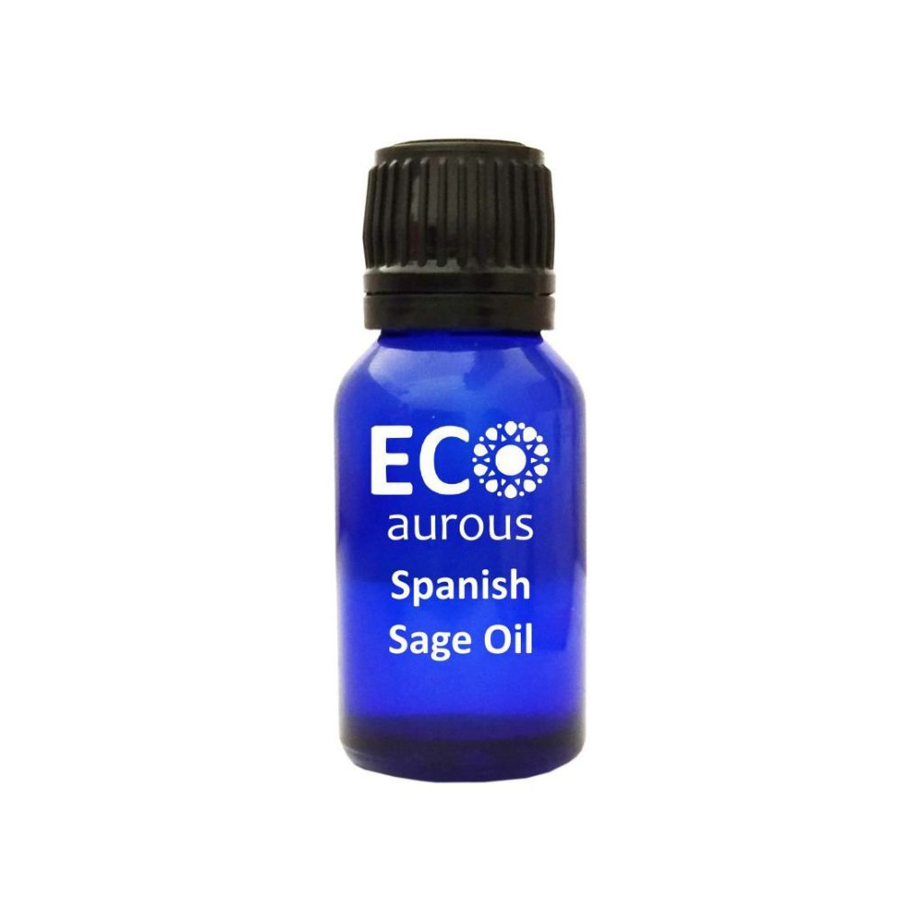 Buy Spanish Sage Essential Oil 100% Natural & Organic For Skin, face Online - Eco Aurous
