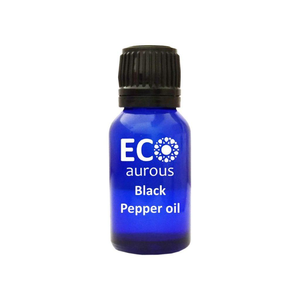 Buy Black Pepper Essential Oil 100% Natural & Organic Piper Nigrum Oil Online - Eco Aurous