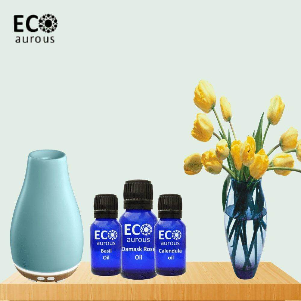 Buy Blue Tansy Essential Oil 100% Natural & Organic for Hair, Skin - Eco Aurous