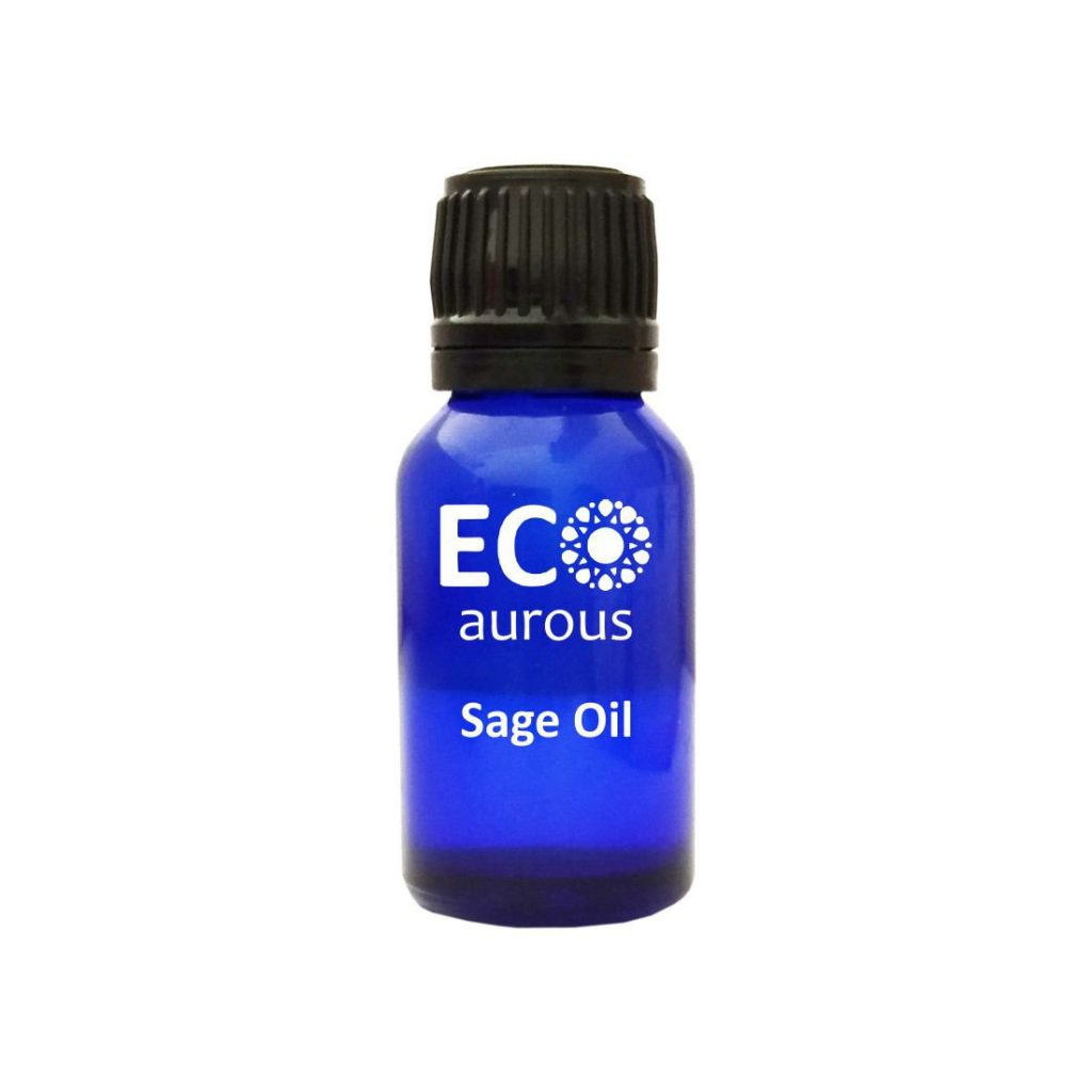 Buy Organic Sage Essential Oil 100% Natural For Skin, Hair Growth Online - Eco Aurous