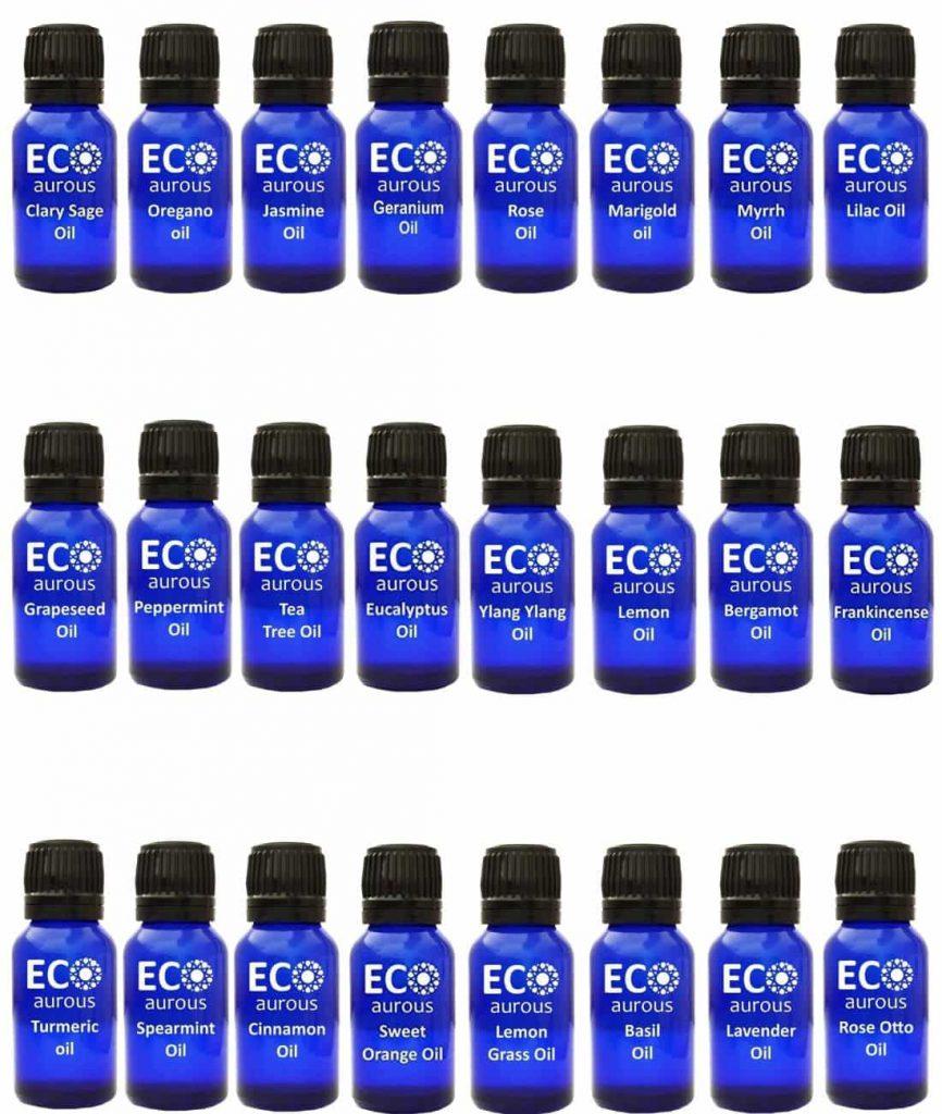 Buy Organic Aromatherapy Essential Oils Set Kit ( 24X10ml(0.33 oz) Pure & Natural Online - Eco Aurous