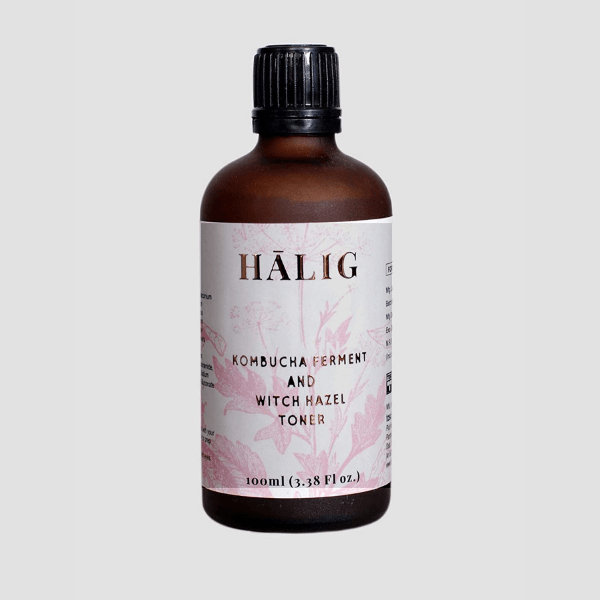 Halig Kombucha Extract And Witch Hazel Toner, 100Ml
